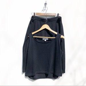 St John Basics Black Skirt Set